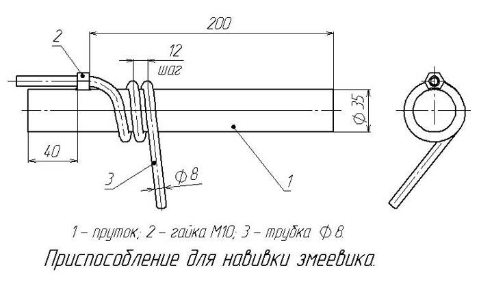 схема стандартного самогонного аппарата со змеевиком