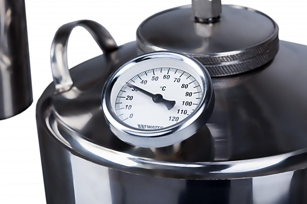 Как установить термометр на самогонный аппарат?